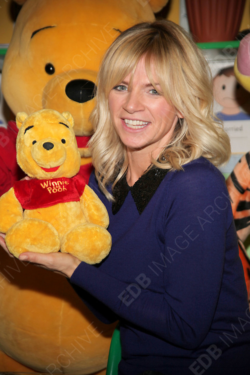03.OCTOBER.2012. LONDON<br /> <br /> ZOE BALL IS WORKING WITH DISNEY TO LAUNCH THE WINNIE THE POOH STORYTELLING ACADEMY<br /> <br /> BYLINE: EDBIMAGEARCHIVE.CO.UK<br /> <br /> *THIS IMAGE IS STRICTLY FOR UK NEWSPAPERS AND MAGAZINES ONLY*<br /> *FOR WORLD WIDE SALES AND WEB USE PLEASE CONTACT EDBIMAGEARCHIVE - 0208 954 5968*
