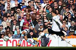Aston Villa's Fabian Delph passes - Photo mandatory by-line: Robbie Stephenson/JMP - Mobile: 07966 386802 - 11/04/2015 - SPORT - Football - London - White Hart Lane - Tottenham Hotspur v Aston Villa - Barclays Premier League