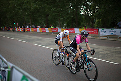 Thalita de Jong (NED) of Rabo-Liv Cycling Team tries to fight her way back to the peloton after an early crash during the Prudential RideLondon Classique, a 66 km road race in London on July 30, 2016 in the United Kingdom.
