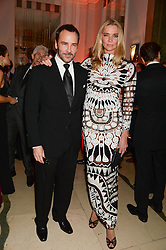TOM FORD and JODIE KIDD at the Harper???s Bazaar Women of the Year 2013 in association with Estée Lauder, Audemars Piguet and Selfridges & Co. held at Claridge's, Brook Street, London on 5th November 2013.
