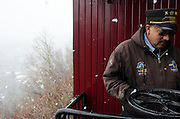 The Captain of the Ship. Ray Martinez of Chama, New Mexico has worked on the Cumbres & Toltec Railroad since 1974.