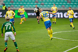 Tadej Vidmajer of NK Celje during football match between NK Olimpija Ljubljana and NK Celje in 1st leg match in Semifinal of Slovenian cup 2017/2018, on April 4, 2018 in SRC Stozice, Ljubljana, Slovenia. Photo by Urban Urbanc / Sportida