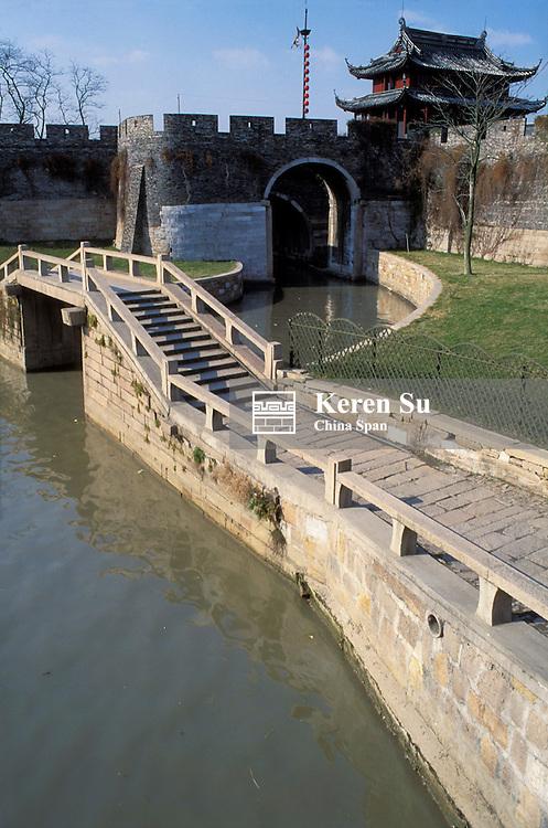 Water fort on the Grand Canal, Suzhou, Jiangsu Province, China