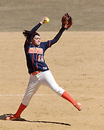 Middletown, NY - SUNY Orange pitcher Courtney Spreer winds up during a women's softball against Gloucester County College on March 29, 2008.