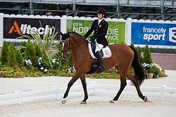 Rebecca Hart, (USA), Schroeters Romani - Team Competition Grade II Para Dressage - Alltech FEI World Equestrian Games™ 2014 - Normandy, France.<br /> © Hippo Foto Team - Jon Stroud <br /> 25/06/14