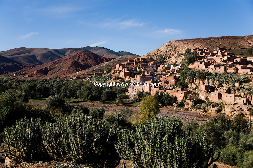 Morocco  Atlas mountain ,Tahanaoute a village of the Atlas