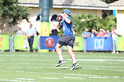 Jan 23, 2019; Kissimmee, FL, USA;   Atlanta Falcons tight end Austin Hooper (81) catches a pass at the NFC team practice at the 2019 Pro Bowl at ESPN Wide World of Sports Complex. (Kim Hukari/Image of Sport)