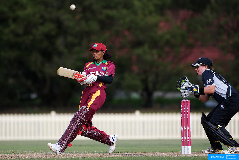 Merissa Aguilleira batting during the West Indies V New Zealand group A match at Bankstown Oval  in the ICC Women's World Cup Cricket Tournament, in Sydney, Australia on March 10, 2009. New Zealand won by 56 runs. Photo Tim Clayton