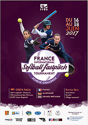 Achille Challenge Softball Tournament street advertising poster, 2017.