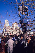 November 18, 1989. Sofia, Bulgaria. Anti-Communist demo in front of Alexander Nevski cathedral. (Photo Heimo Aga)