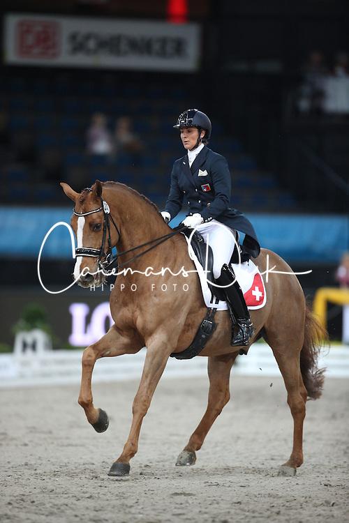 Joannou Antonella, (SUI), Dandy de la Roche <br /> Grand Prix Dressage<br /> Stuttgart - German Masters 2015<br /> &copy; Hippo Foto - Stefan Lafrentz