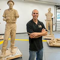 Benjamin Victor, sculptor, professor of the practice, Carrie Quinney photo