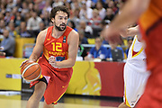 DESCRIZIONE : Berlino Berlin Eurobasket 2015 Group B Germany Spain<br /> GIOCATORE :  Sergio Llull<br /> CATEGORIA :Palleggio<br /> SQUADRA :Spain<br /> EVENTO : Eurobasket 2015 Group B <br /> GARA : Germany Spain<br /> DATA : 10/09/2015 <br /> SPORT : Pallacanestro <br /> AUTORE : Agenzia Ciamillo-Castoria/I.Mancini <br /> Galleria : Eurobasket 2015 <br /> Fotonotizia : Berlino Berlin Eurobasket 2015 Group B Germany Spain