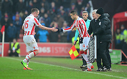 Ibrahim Afellay of Stoke City replaces Charlie Adam of Stoke City - Mandatory by-line: Alex James/JMP - 11/02/2017 - FOOTBALL - Bet365 Stadium - Stoke-on-Trent, England - Stoke City v Crystal Palace - Premier League
