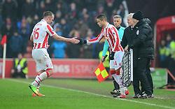 Ibrahim Afellay of Stoke City replaces Charlie Adam of Stoke City - Mandatory by-line: Alex James/JMP - 11/02/2017 - FOOTBALL - Bet365 Stadium - Stoke-on-Trent, England - Stoke City v Crystal Palace - Premier League