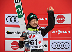 03.02.2019, Energie AG Skisprung Arena, Hinzenbach, AUT, FIS Weltcup Ski Sprung, Damen, im Bild Sara Takanashi (JPN) // Sara Takanashi (JPN) during the woman's Jump of FIS Ski Jumping World Cup at the Energie AG Skisprung Arena in Hinzenbach, Austria on 2019/02/03. EXPA Pictures © 2019, PhotoCredit: EXPA/ Reinhard Eisenbauer