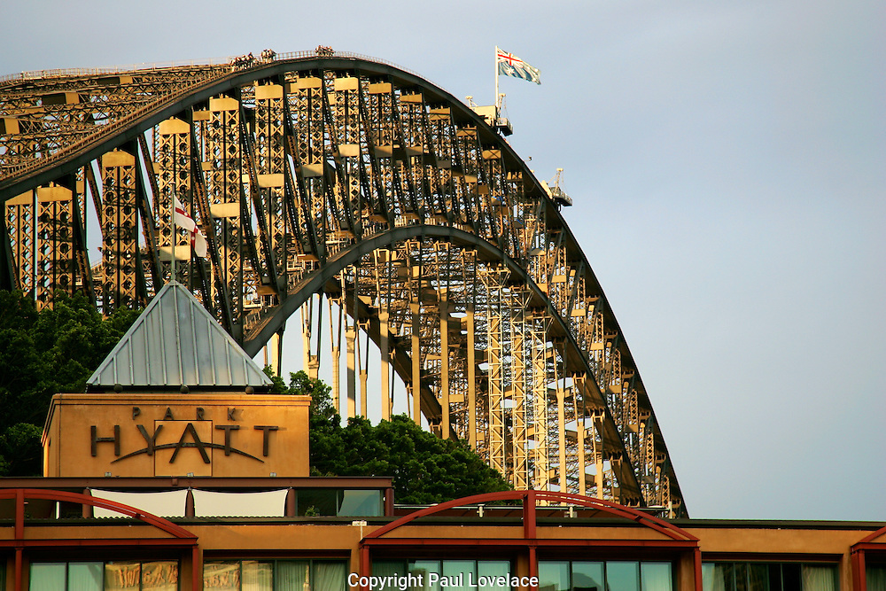 Sydney Harbour Bridge and Park Hyatt.Sydney, Australia.
