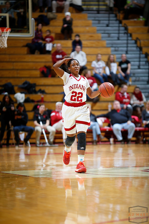 Indiana guard Tia Elbert (22) in action as Indiana played Northern Kentucky in an NCCA college basketball game in Bloomington, Ind., Thursday, Dec. 8, 2016. (AJ Mast)