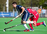 AMSTELVEEN -  Matt Gohdes (Pinoke)  tijdens de hoofdklasse competitiewedstrijd heren hockey Pinoke-Kampong (1-4) .   COPYRIGHT KOEN SUYK