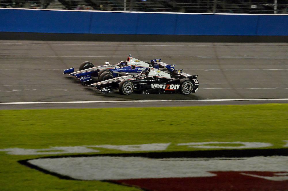 Will Power, Helio Castroneves, Auto Club Speedway, Fontana, CA USA 8/30/2014