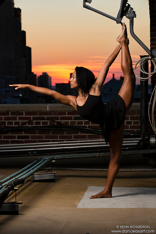 New York City Rooftop Dance As Art Photography Project- featuring Schae Lysette-Harrison