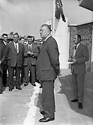 02/05/1960<br /> 05/02/1960<br /> 02 May 1960<br /> National Farmers Association stand at the R.D.S., Ballsbridge, Dublin. The Minister for Agriculture Mr. Patrick Smith T.D. speaking at the opening ceremony at the N.F.A. farmers pavilion at the R.D.S. Showgrounds, prior to a tour of the building. Included is Dr. Juan Greene, President of the N.F.A. on right.
