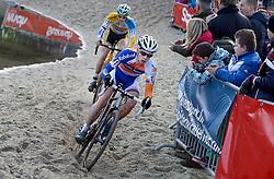 12-01-2014 WIELRENNEN: STANNAH NK CYCLOCROSS: GASSELTE<br /> Winnaar Lars van der Haar heeft zijn nationale titel bij het veldrijden met succes verdedigd. Achter hem nummer twee Corne van Kessel<br /> &copy;2014-FotoHoogendoorn.nl