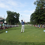 Bubba Watson teeing off on the 16th during the first round of theThe Barclays Golf Tournament at The Ridgewood Country Club, Paramus, New Jersey, USA. 21st August 2014. Photo Tim Clayton