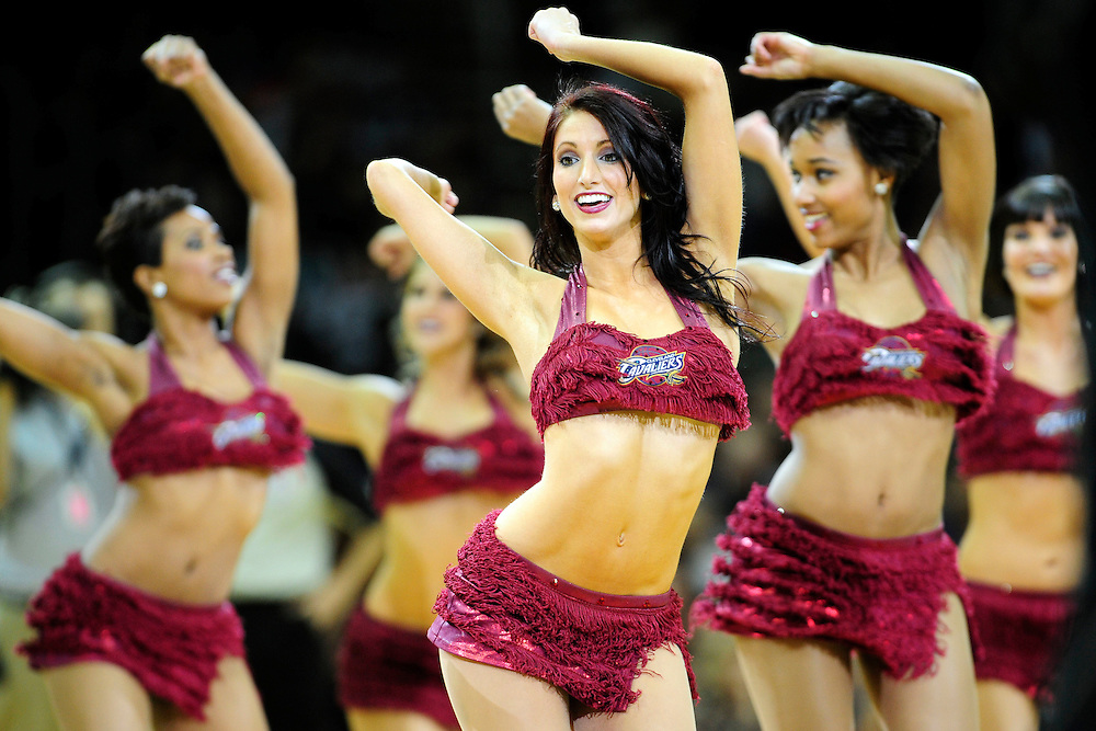 Feb. 25, 2011; Cleveland, OH, USA; Cleveland Cavaliers cheerleaders during the second quarter against the New York Knicks at Quicken Loans Arena. Mandatory Credit: Jason Miller-US PRESSWIRE