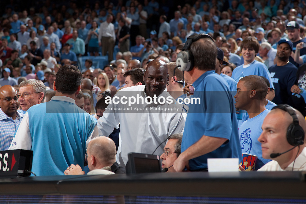 08 March 2009: North Carolina Tar Heels former player Michael Jordan before the season's final game, a 79-71 win over the Duke Blue Devils at the Dean Smith Center in Chapel Hill, NC.