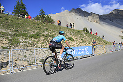 Dmitriy Gruzdev (KAZ) Astana climbs Col d'Izoard during Stage 18 of the 104th edition of the Tour de France 2017, running 179.5km from Briancon to the summit of Col d'Izoard, France. 20th July 2017.<br /> Picture: Eoin Clarke | Cyclefile<br /> <br /> All photos usage must carry mandatory copyright credit (© Cyclefile | Eoin Clarke)
