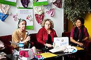 Panties for peace national campaign launch with Mika Lévesque, Michèle Asselin and Thet Thet Tun..Lancement national de la campagne P'tites culottes pour la paix avec Mika Lévesque, Michèle Asselin et Thet Thet Tun..Montreal , Québec, Canada, 2008, 05, 26, - © Photo Kiran Ambwani / adecom.ca