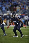 Tennessee Titans inside linebacker Jayon Brown (55) in action during the week 14 regular season NFL football game against the Jacksonville Jaguars on Thursday, Dec. 6, 2018 in Nashville, Tenn. The Titans won the game 30-9. (©Paul Anthony Spinelli)