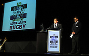Nick White and Onosai Auva'a.<br />Auckland Rugby Awards Evening, Sky City Convention Centre, Auckland, Friday 31 October 2008. Photo: Renee McKay/PHOTOSPORT