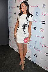 Image ©Licensed to i-Images Picture Agency. 10/06/2014.<br /> <br /> Pictured is Linzi Stoppard arriving at the party.<br /> <br /> Superdrug 50th Anniversary Party at The Bankside Vaults, Southbank, London, UK.<br /> <br /> Tuesday 10th of June 2014<br /> Picture by Ben Stevens / i-Images