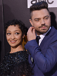 """(L-R) Ruth Negga and Dominic Cooper together at AMC's """"Preacher"""" Season 2 Premiere Screening held at the Theater at the Ace Hotel in Los Angeles, CA on Tuesday, June 20, 2017.  (Photo By Sthanlee B. Mirador) *** Please Use Credit from Credit Field ***"""