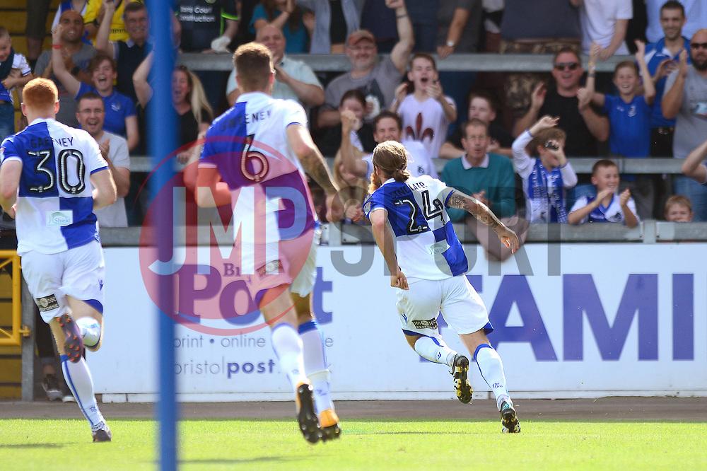 Stuart Sinclair of Bristol Rovers celebrates scoring a goal - Mandatory by-line: Dougie Allward/JMP - 26/08/2017 - FOOTBALL - Memorial Stadium - Bristol, England - Bristol Rovers v Fleetwood Town - Sky Bet League One