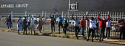 South Africa - 07 May 2020 - LOCKDOWN- employees protest outside the gates of the Trade Call Investment company at Mobeni claiming their unpaid salaries yet they have been working full time during this lockdown .  Picture: Nqobile Mbonambi/ Africa News Agency(ANA)