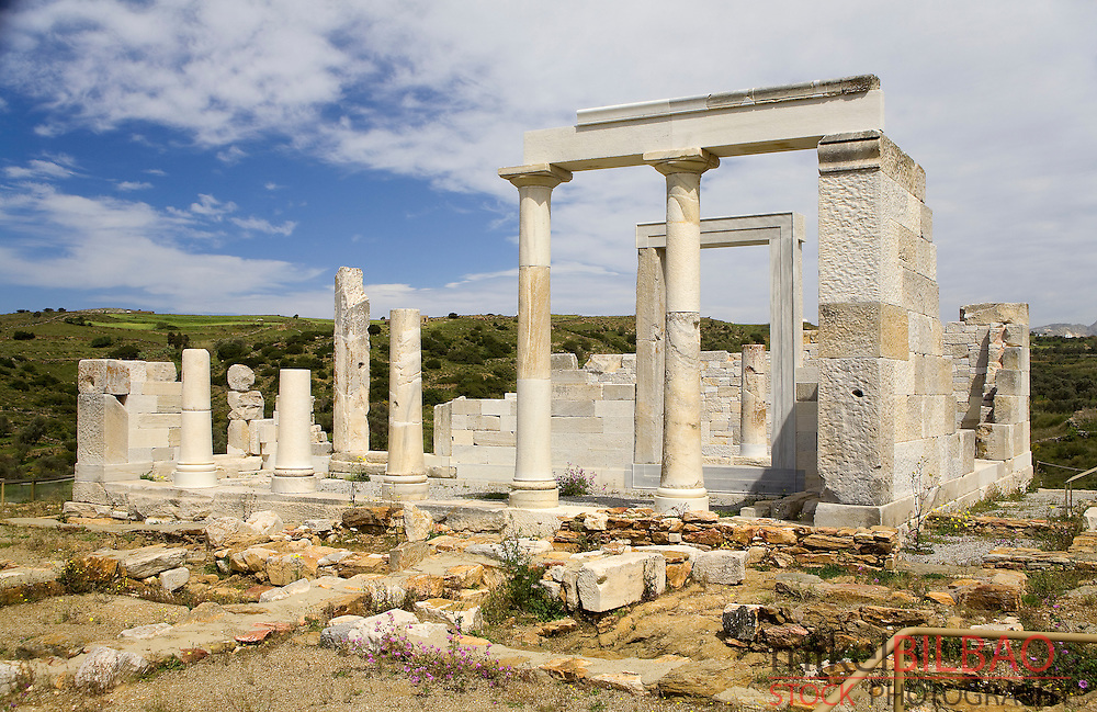 Demeter´s temple. Sagri. Naxos island. Cyclades islands, Aegean Sea, Greece, Europe.