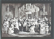 British royal family and its European connections - 1897. In centre is Queen Victoria surrounded by her children and their spouses, and by some of her numerous grandchildren. Victoria is seated with Alexandra,  Princess of Wales. The Prince of Wales, later Edward VII, stands beside Queen Victoria. Photograph.