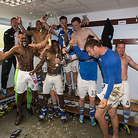 St Johnstone v Motherwell.....19.05.13      SPL<br /> St Johnstone players celebrate in the dressing room<br /> Picture by Graeme Hart.<br /> Copyright Perthshire Picture Agency<br /> Tel: 01738 623350  Mobile: 07990 594431