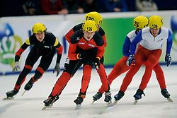 14-01-2011 SHORTTRACK: ISU EUROPEAN SHORTTRACK SPEEDSKATING CHAMPIONSHIPS: HEERENVEEN<br /> Germany and France on 5000m relay<br /> ©2011-WWW.FOTOHOOGENDOORN.NL