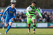 Forest Green Rovers Reuben Reid(26) chases down the ball during the EFL Sky Bet League 2 match between Forest Green Rovers and Notts County at the New Lawn, Forest Green, United Kingdom on 10 March 2018. Picture by Shane Healey.