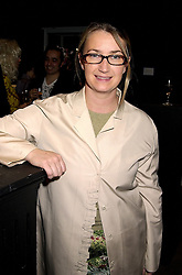 Designer ANYA HINDMARCH at a party in London on 7th November 2000.OIT 56