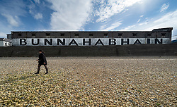 View of Bunnahabhain Distillery on island of Islay in Inner Hebrides of Scotland, UK