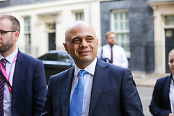 © Licensed to London News Pictures. 10/09/2019. London, UK. Chancellor of The Exchequer SAJID JAVID departs from No 10 Downing Street after attending the weekly Cabinet Meeting. Photo credit: Dinendra Haria/LNP
