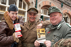 NWW2A Members collecting at the Northallerton Wartime Weekend fund raising in Northallerton High Street Saturday 11 June  2011.Images © Paul David Drabble