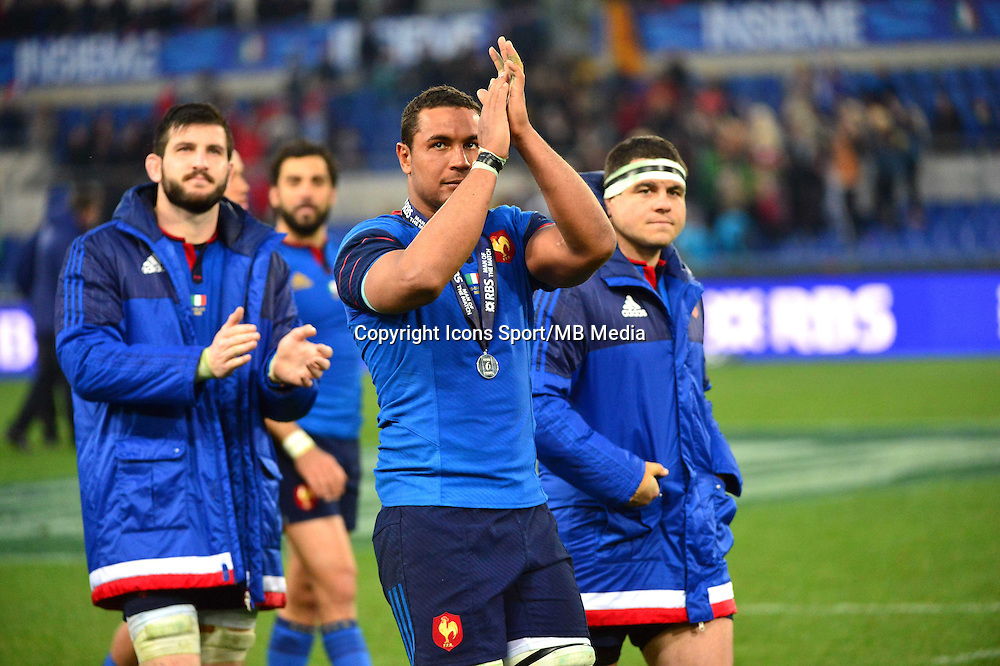 Thierry DUSAUTOIR - 15.03.2015 - Rugby - Italie / France - Tournoi des VI Nations -Rome<br /> Photo : David Winter / Icon Sport