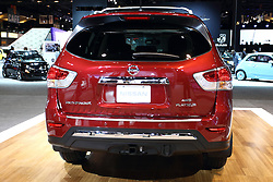 12 February 2015:  2015 NISSAN PATHFINDER: Nissan's big new for SUV consumers is the debut of the first-ever Pathfinder Hybrid. The 2015 Pathfinder is offered in four models: S, SV, SL and Platinum, with three-row, seven passenger interior, and offered in four-wheel drive (4WD) and two-wheel drive (2WD) configurations, with a maximum 5,000-pound towing capacity. Pathfinder is the only vehicle in class with selectable 2WD, Auto or 4WD Lock modes for its available intuitive ALL-MODE 4x4-i system. Cargo room ranges from 16.0 cu. ft. with second and third row seats upright to 79.8 when seats are folded. An available Dual panorama moonroof creates an even more airy cabin environment. Enhancements to the '14 Pathfinder models include a new SL Tech Package, featuring Bose 13-speaker Premium Audio System, Nissan Navigation System, voice recognition, XM NavTraffic and NavWeather capability (SiriusXM subscription required, sold separately), Zagat Restaurant Survey, Bluetooth Streaming Audio and 8.0-inch color touchscreen monitor. Visual exterior details include a wide chrome grille, large aerodynamic headlights, muscular fenders, front and rear spoilers, rear tire deflectors and rear suspension fairings to help achieve among the best aerodynamic performance in the segment. Standard 3.5-liter V-6 produces 260 horsepower and is linked-up with the next-generation CVT (continuously variable transmission) for enhanced driver feel and improved fuel economy. The Pathfinder Hybrid comes with a 3.5-liter V-6 as well. It's assisted by 15 kW electric motor for a combined output of 250 horsepower. Five new exterior colors have been added this model year: Java Metallic, Midnight Jade, Gun Metallic, Magnetic Black and Pearl White. This is the fourth generation Pathfinder, first introduced as a 1986 model. Throughout its 27-year history it has remained one of Nissan's most popular and most recognized nameplates.<br /> <br /> First staged in 1901, the Chicago Auto Show is the largest auto sh