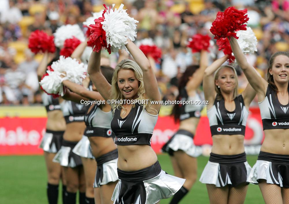 Warriors Cheerleaders. NRL Rugby League, Vodafone Warriors v Newcastle Knights, Mt Smart Stadium, Auckland, New Zealand, Sunday 6 April 2008. Photo: Renee McKay/PHOTOSPORT